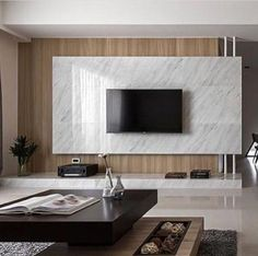 Good Housekeeping Mantra: 30 TV Wall Units To Organize And Stylize Your Home Apartment Interior, Living Room Interior, Home Living Room, Living Room Decor, Tv Feature Wall, Living Room Tv Unit Designs, Tv Wall Design, Design Design, Decoration Design