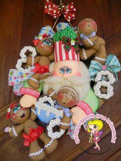 Qmimos - Fazendo Arte brincando: Girlanda Noel com os Biscoitos Ginger