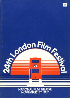 Inch Print - High quality print (other products available) - Poster from the London Film Festival - 1980 - Image supplied by British Film Institute - Photo Print made in the USA Film Festival Poster, London Film Festival, London Films, London Bus, November Film, London Poster, Blue Poster, Gig Poster, Film Institute
