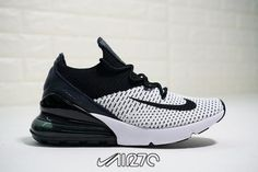 pretty nice f722f 001d4 Men s Nike Air Max 270 Flyknit White Black AO1023-100