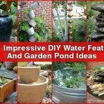 20+ Impressive DIY Water Feature & Garden Pond Ideas