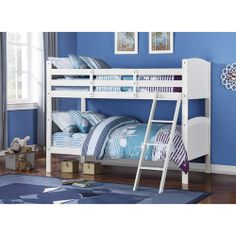 $229 Elise Bead Board Twin over Twin, Soft White: Kids' & Teen Rooms : Walmart.com