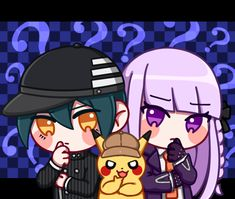 Best Crossover, Fandom Crossover, Anime Crossover, Danganronpa Funny, Danganronpa Characters, Detective, Manhwa, Chibi, Pokemon
