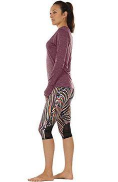 icyzone Damen Laufshirt Sport Training Langarm Shirt mit Daumenloch - Lerne Pilates Pilates Training, Yoga, Capri Pants, Shirts, Fashion, Timeless Fashion, Health And Wellness, Men And Women, Fashion Trends