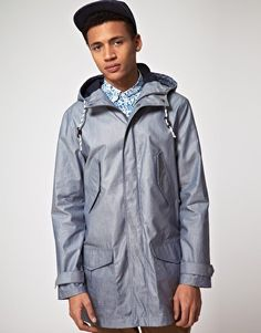 ASOS Parka In Coated Cotton