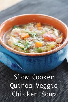 So easy and healthy. Quinoa cooks in the slow cooker.