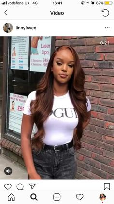 Online Shop Ombre hair color sew in human hair bundles and closure and frontal for brunettes colored hair for black off promotion factory cheap price,DHL worldwide shipping, store coupon available. Front Hair Styles, Curly Hair Styles, Natural Hair Styles, Black Girls Hairstyles, Wig Hairstyles, Sew In Weave Hairstyles, Hairstyle Ideas, Divas, Human Hair Color
