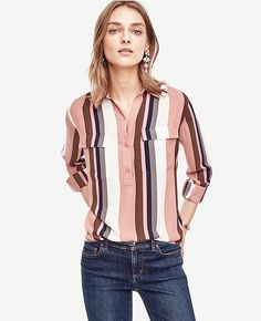 Primary Image of Mixed Stripe Camp Popover