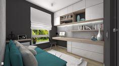 Pokój gościnny / biuro - zdjęcie od Ewelina Loręcka - projektowanie wnętrz - Biuro - Styl Nowoczesny - Ewelina Loręcka - projektowanie wnętrz