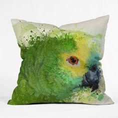 """Msimioni Loro Throw Pillow (26"""" x 26""""), Multi, Size 26 x 26 (Polyester, Graphic Print)"""