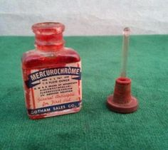 The orangy-red stuff that was put on every scrape if you were a child of the 60s and 70s!