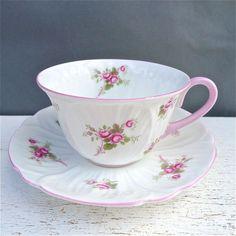 shelley bridal rose tea cup