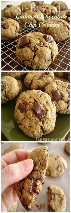 A fun twist on classic chocolate chip cookies, these soft-baked cookies are jam-packed with lots of oats, pecans, and gooey chocolate chips. wholeandheavenlyoven.com