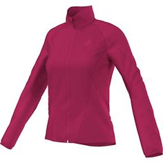 Adidas Hiking Wind Fleece Jacket - Women's Vivid Berry Small * You can get additional details at the image link. #WomensCampingClothing