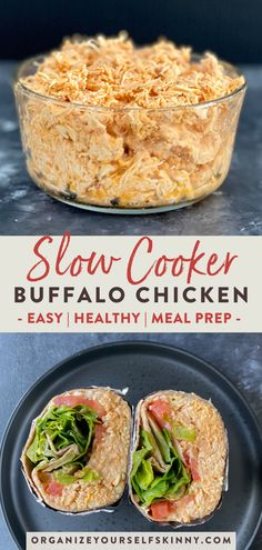 chicken recipes easy Slow cooker buffalo chicken recipe uses 4 simple ingredients and is so easy to make. Make-ahead recipe for easy weeknight meals. Buffalo Chicken Recipes, Easy Chicken Recipes, Easy Healthy Recipes, Pasta Recipes, Crockpot Healthy Recipes Clean Eating, Heart Healthy Meals, Healthy Recipes For Two, Healthy Shredded Chicken Recipes, Healthy Hamburger Recipes