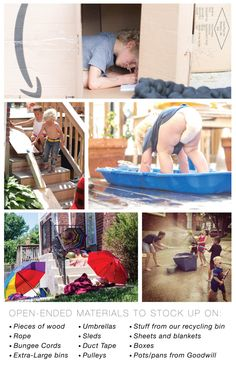 fab ideas for outside play... even if you don't have a front yard or a neighborhood full of kids!  I loved this list!