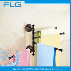 (38.70$)  Buy here - http://aiu8r.worlditems.win/all/product.php?id=32586587564 - FLG5417 Towel Bar Wall Mounted Oil Rubbed Bronze Art Curving BaseFour Bars Towel Bar