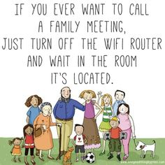 Family meeting time.