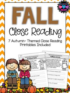 This product includes 7 fall themed reading comprehension worksheets that can be used as a literacy center, classwork, or homework. Worksheets that are included are all nonfiction/informational text- All About Bats- Falling Leaves- Candy Corns- Pumpkins- Apples- Amazing Acorns- Candy ApplesJust print and GO!Looking for MORE Reading Comprehension Products?