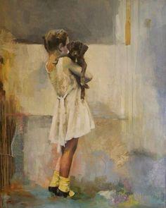 """""""The Puppy"""" - Original Fine Art for Sale - © Katie Wilson"""