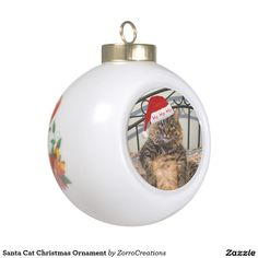 Shop Santa Cat Christmas Ornament created by ZorroCreations. Diy Christmas Gifts For Boyfriend, Christmas Gifts For Friends, Homemade Christmas Gifts, Cat Christmas Ornaments, Christmas Cats, Christmas Bulbs, First Christmas Married, First Christmas Photos, Grandparent Gifts