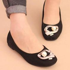 Faux-Pearl Metal-Accent Flats from #YesStyle <3 IYATO YesStyle.com