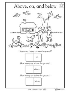 Worksheet Position Worksheets For Kindergarten the ojays words and children on pinterest our 5 favorite prek math worksheets