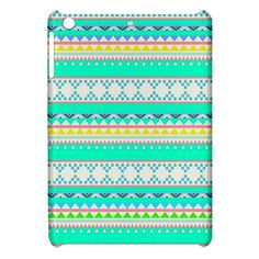 Green Aztec Pattern Tribal iPad Mini Hardshell Case Cover Hard Shell Case for iPad Mini