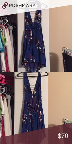Dress Super cute, navy blue and floral dress.super cute open back. New with out tags dainty hooligan Dresses Backless