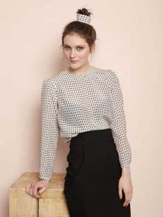 Blouse Lizzy white designed by Dressd by Ellen Benders