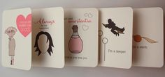 Harry Potter Themed Valentines {AfternoonCoffee via Etsy}  I LOVE these