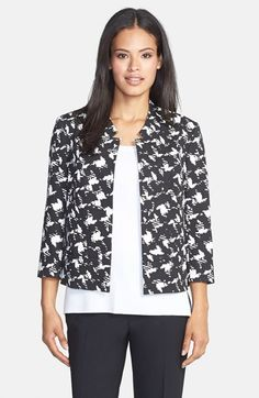 Classiques Entier® 'Torres' Print Crop Jacket available at #Nordstrom