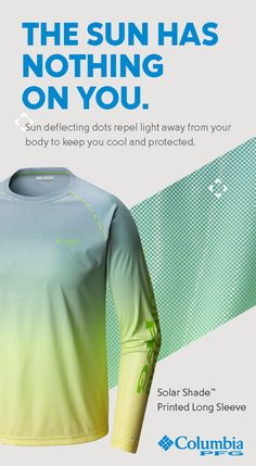 6c21c84b9b7 Our Solar Shade™ Long Sleeve is lightweight but loaded with protection.  With Omni-