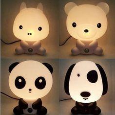 Panda / медведь / кролик / собачка ночь лёгкие   ночь кунг фу Panda стол лампа для дети день рождения подарок спальнякупить в магазине EWAY TechnologyнаAliExpress