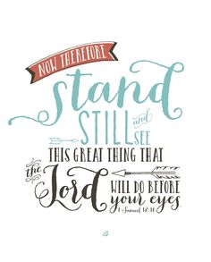 LostBumblebee ©2015 Bible Verse : 1 Samuel 12:16 STAND: Free Printable : Personal Use Only.