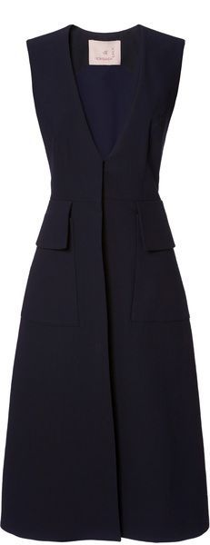 ROKSANDA ILINCIC Sleeveless Tatam Coat, this coat, a little shorter, with jeans and a shirt under
