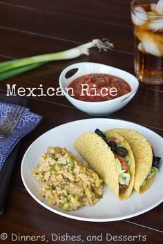 Mexican Rice (Healthy) | @dinnersdishesdessert