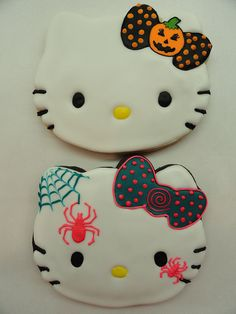 Hello Kitty Halloween cookies! This would make a cute cake angie
