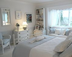 White And Blue Bedroom Design, Pictures, Remodel, Decor and Ideas