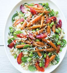 This brightly colored salad makes a fresh and satisfying vegetarian meal any night of the week.