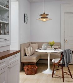 How To Dress Up A Breakfast Nook Enjoy Simple Pleasures Corner Kitchen