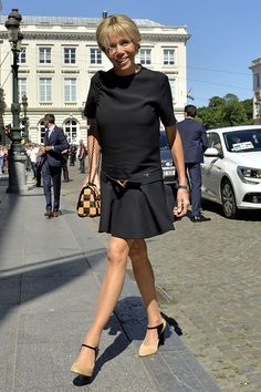 The First Lady of France is a natural-born rule breaker, right down to her gamine limbs.