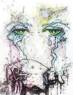 """Corruption Series"" watercolor & ink 18x24"