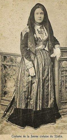 Festive costume from Skafia (Crete).  Late 19th century.