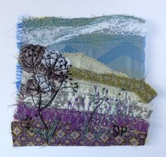 Cow Parsley Textile Art, by Sylvia Paul Art and Textiles on Folksy, £90.00