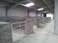 Loose boxes at Lochside Arena, Scotland,
