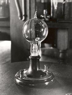 Let There Be Light Bulbs: How Incandescents Became the Icons of Innovation  Above: An early Edison incandescent prototype, circa 1880.