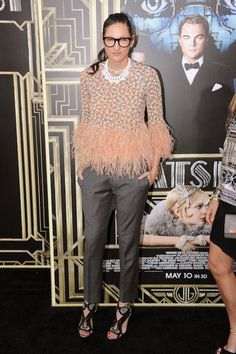 Jenna Lyons always finds a new and interesting way to make even the most basic items, like a sweater, look super cool.