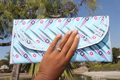 Sky Blue Ankara Clutch w/Chain by ImoseBoutique on Etsy, $35.00