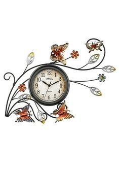 Rustique Métal Estampé Windmill Ferme Horloge murale classique décoration chiffres romain